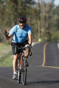 sylwetka sportowca rowerzysta