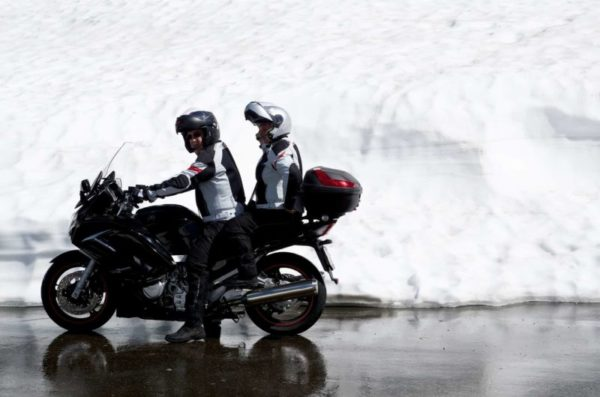 jazda motocyklem zimą