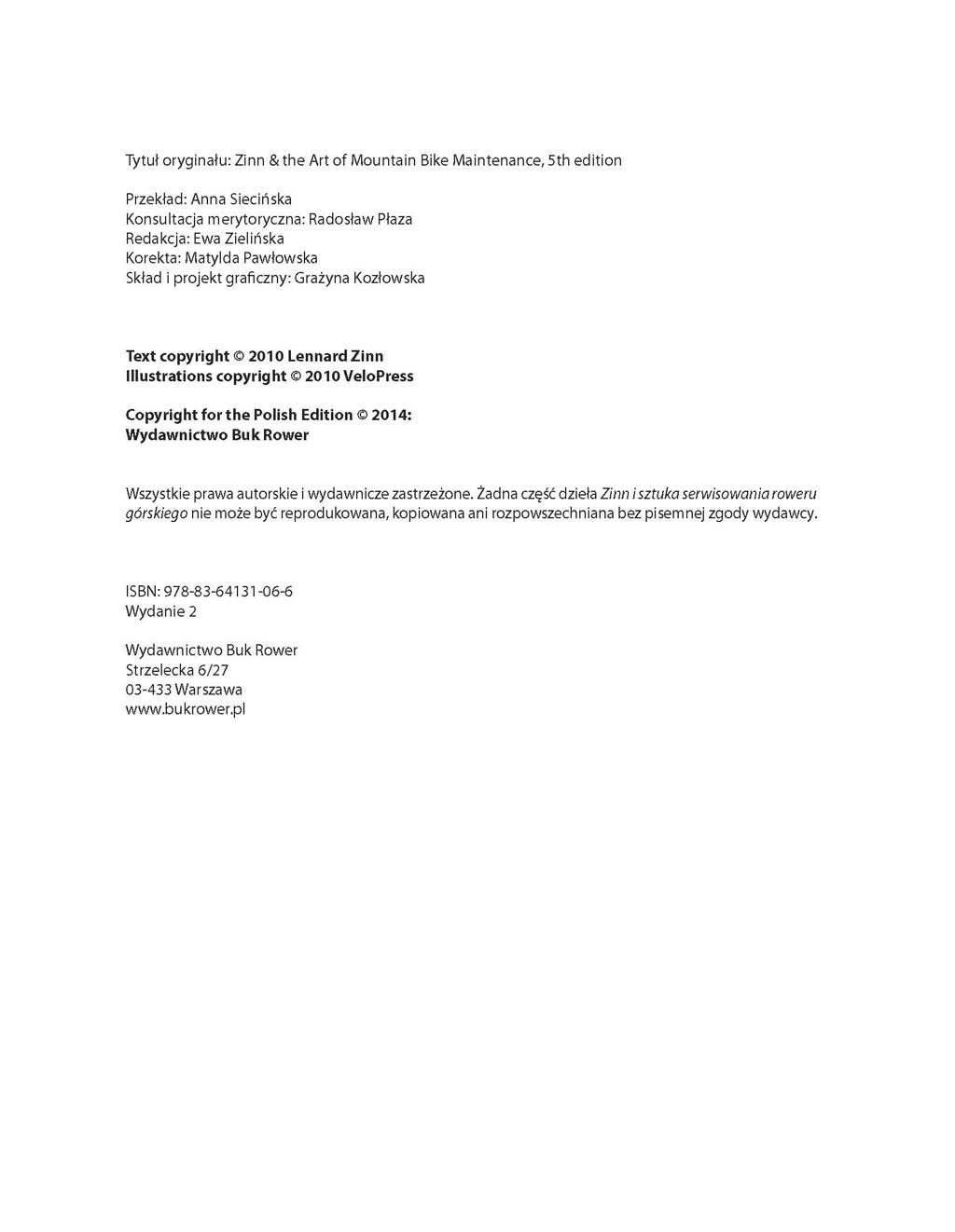 zinn i sztuka serwisowania roweru górskiego pdf