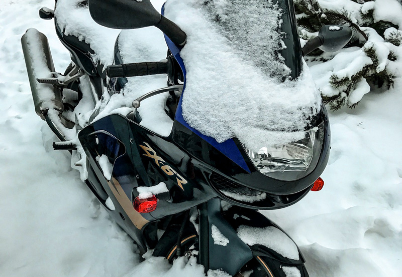 hipotermia motocykl zimą