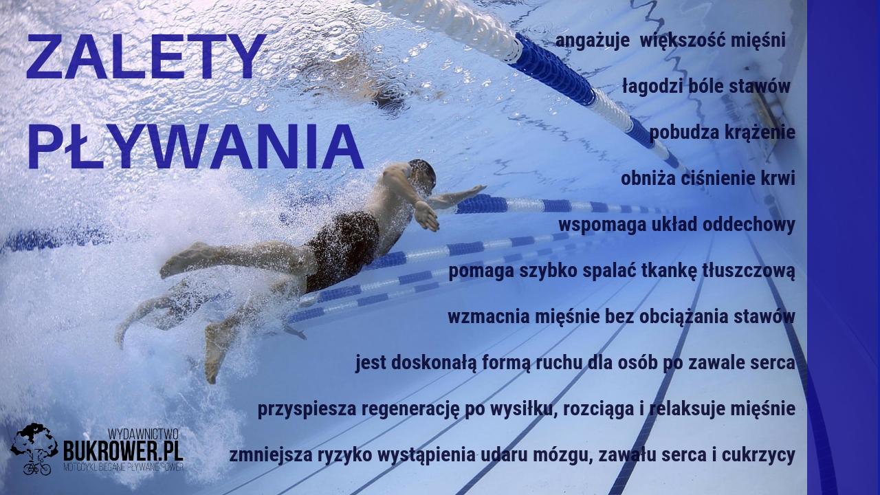 odchudzanie przezpływanie - grafika mówiąca ozaletach pływania